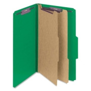 Smead 19033 Green Colored Pressboard Classification Folders with SafeSHIELD Fasteners