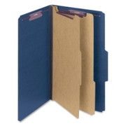 Smead 19035 Dark Blue Colored Pressboard Classification Folders with SafeSHIELD Fasteners