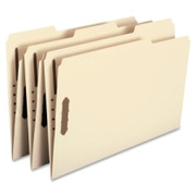 Smead 19537 Manila Fastener File Folders with Reinforced Tab