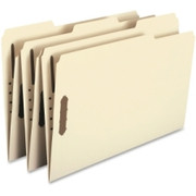 Smead 19600 Manila Heavy-Duty Fastener File Folders