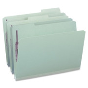 Smead 19931 Gray/Green Pressboard Fastener File Folders with SafeSHIELD Fasteners