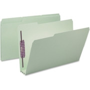 Smead 19944 Gray/Green Pressboard Fastener File Folders with SafeSHIELD Fasteners