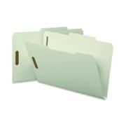 Smead 19980 Gray/Green Pressboard Fastener File Folders with SafeSHIELD Fasteners