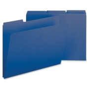 Smead 21541 Dark Blue Colored Pressboard File Folders