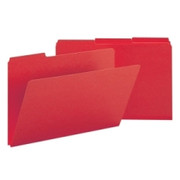 Smead 22538 Bright Red Colored Pressboard File Folders