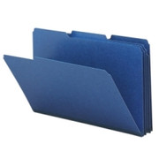 Smead 22541 Dark Blue Colored Pressboard File Folders