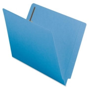 Smead 25040 Blue End Tab Colored Fastener File Folders with Reinforced Tab