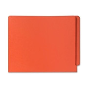 Smead 25510 Orange End Tab Colored File Folders with Reinforced Tab