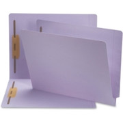 Smead 25540 Lavender End Tab Colored Fastener File Folders with Reinforced Tab