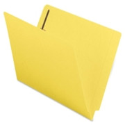 Smead 25940 Yellow End Tab Colored Fastener File Folders with Reinforced Tab