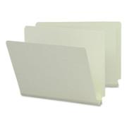 Smead 26210 Gray/Green End Tab Pressboard File Folders