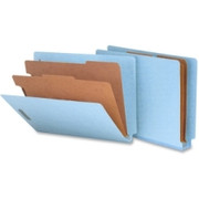 Smead 26781 Blue End Tab Pressboard Classification Folders with SafeSHIELD Fasteners