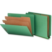 Smead 26785 Green End Tab Pressboard Classification Folders with SafeSHIELD Fasteners