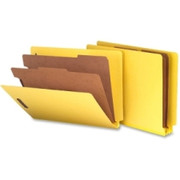 Smead 26789 Yellow End Tab Pressboard Classification Folders with SafeSHIELD Fasteners