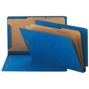Smead 29784 Dark Blue End Tab Pressboard Classification Folders with SafeSHIELD Fasteners