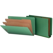 Smead 29785 Green End Tab Pressboard Classification Folders with SafeSHIELD Fasteners
