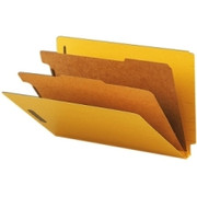 Smead 29789 Yellow End Tab Pressboard Classification Folders with SafeSHIELD Fasteners