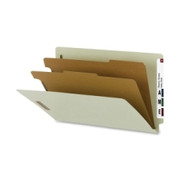 Smead 29802 Gray/Green 100% Recycled End Tab Classification Folders