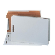 Smead 29820 Gray/Green End Tab Pressboard Classification Folders with SafeSHIELD Fasteners