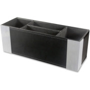 Artistic Architect Line, Supply Caddy, Two-Tone, Leather-Like, BK/AL