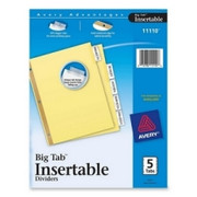 Avery WorkSaver Big Tab Insertable Divider - 1