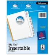 Avery WorkSaver Big Tab Insertable Tab Divider - 1