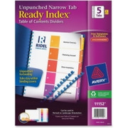 Avery Ready Index Unpunched Narrow Tab Dividers
