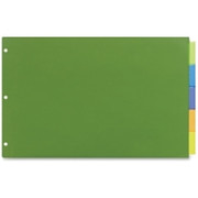 """Avery Plastic Insertable Dividers, 11""""x17"""", 5 Tab, Assorted, Single Pack"""