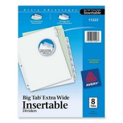 Avery WorkSaver Extra Wide Big Tab Divider - 3