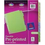 Avery Preprinted Monthly Plastic Divider