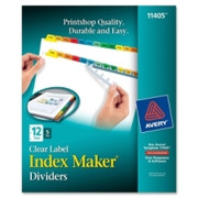Avery Index Maker Punched Clear Label Tab Divider