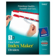 Avery Index Maker Punched Clear Label Tab Divider - 2