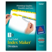 Avery Index Maker Punched Clear Label Tab Divider - 4