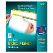 Avery Index Maker Punched Clear Label Tab Divider - 5