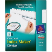 Avery Index Maker Clear Label Divider with Tabs - 1