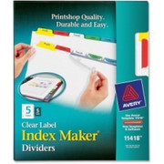Avery Index Maker Punched Clear Label Tab Divider - 6