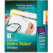 Avery Index Maker Punched Clear Label Tab Divider - 7