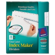 Avery Index Maker Copier Clear Label Divider - 1