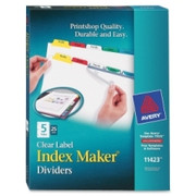 Avery Index Maker Punched Clear Label Tab Divider - 8