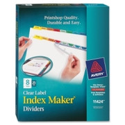 Avery Index Maker Punched Clear Label Tab Divider - 9