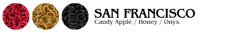 San Francisco Football Jump Rings : Candy Apple / Honey / Onyx