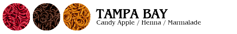Tampa Bay Football Jump Rings : Candy Apple / Henna / Marmalade