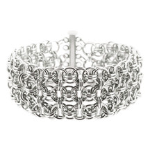 Bright Aluminum Helm Cuff Chain Maille Bracelet Kit