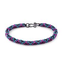 3 Color Enameled Copper Byzantine Bracelet Kit - Purple Flirt