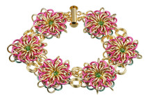 Aloha Flares Chain Maille Bracelet Kit by Genny Smith