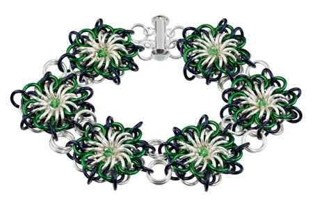 Polo Flares Chain Maille Bracelet Kit by Genny Smith