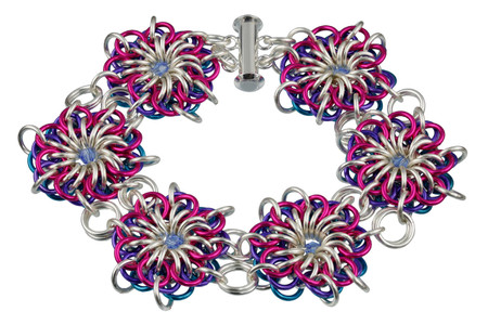 Sassy Flares Chain Maille Bracelet Kit by Genny Smith