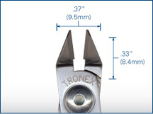 Tronex Taper Relief Flush Cutter, Short Handle