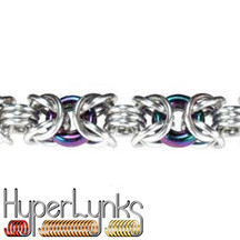 Glass Byzantine Bracelet Kit with Glass Rings