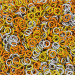 """Candy Corn Anodized Aluminum Mixes - 16 Gauge (3/64"""" or 1.2mm) - AWG Imperial"""